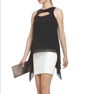 "NWOT BCBGMAXAZRIA ""Bianca"" Asymmetrical Sequin Top"